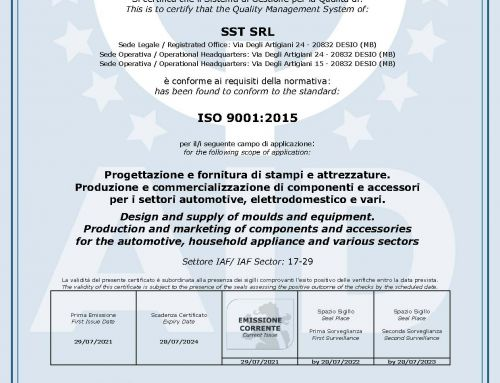 SST S.r.l. si certifica ISO 9001:2015